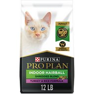 Purina Pro Plan Savor Shredded Blend Indoor Turkey & Rice Formula Dry Cat Food, 12-lb bag