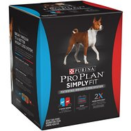 Purina Pro Plan SIMPLY FIT Patented Weight Loss System Dry Dog Food, 21.5-lb bag