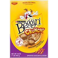 Beggin' Crunch Smoked Bacon Dog Treats, 16-oz box