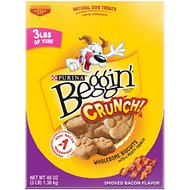 Beggin' Crunch Smoked Bacon Dog Treats, 48-oz box