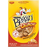 Beggin' Crunch Chicken & Bacon Dog Treats, 16-oz box