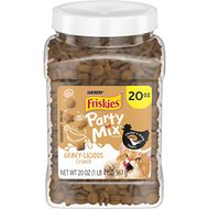 Friskies Party Mix Gravylicious Chicken & Gravy Flavors Cat Treats, 20-oz jar
