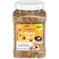 Friskies Party Mix Crunch Cheezy Craze Cat Treats, 20-oz jar