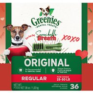 Greenies Smoochable Breath Regular Dental Dog Treats, 36 count