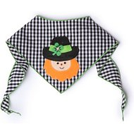 Tail Trends Leprechaun Dog Bandana, Large