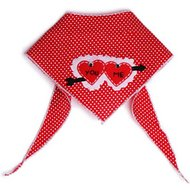 Tail Trends You and Me Cupid Hearts Dog Bandana, Large