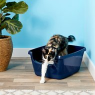Frisco High Sided Cat Litter Box, Navy, Large 18-in