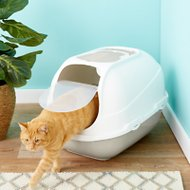 Frisco Deluxe Hooded Cat Litter Box with Scoop, Gray, Extra Large 25-in