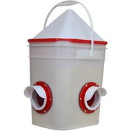 RentACoop Corner Chicken Feeder with No-Roost Cap, 20-lb bucket