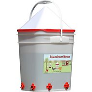 RentACoop Round 6-Port Chicken Waterer with No-Roost Cap, 5-gallon bucket