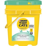 Tidy Cats Free & Clean Unscented Clumping Cat Litter, 35-lb pail