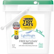 Tidy Cats Lightweight Free & Clean Unscented Clumping Cat Litter, 12-lb pail