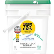 Tidy Cats Lightweight Free & Clean Unscented Clumping Cat Litter, 17-lb pail