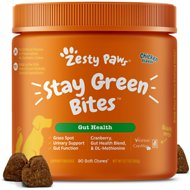 Zesty Paws Grass Defense Stay Green Bites Digestive & Immune Health Dog Supplement, 90 count