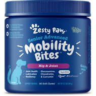 Zesty Paws Advanced Hip & Joint Mobility Bites Senior Chicken Flavor Dog Supplement, 90 count