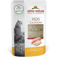 Almo Nature La Cucina Chicken with Whitefish Grain-Free Cat Food Pouches, 1.94-oz, case of 24