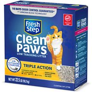 Fresh Step Clean Paws Triple Action Low Tracking Cat Litter, 22.5-lb box