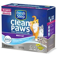 Fresh Step Clean Paws Multi-Cat Low Tracking Cat Litter, 18-lb box