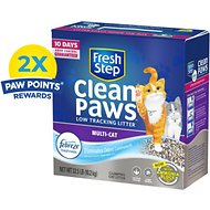 Fresh Step Clean Paws Multi-Cat Low Tracking Cat Litter, 22.5-lb box