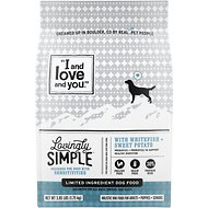 I and Love and You Lovingly Simple Limited Ingredient Diet Whitefish & Sweet Potato Dry Dog Food, 3.85-lb bag