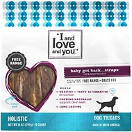 I and Love and You Baby Got Back Strap Beef Tendon Dog Chews, 14-oz bag