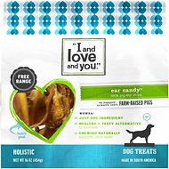 I and Love and You Ear Candy Pig Ear Strip Dog Chews, 16-oz bag