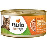 Nulo Freestyle Minced Turkey & Duck in Gravy Grain-Free Canned Cat & Kitten Food, 3-oz, case of 24