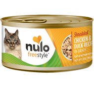 Nulo Freestyle Shredded Chicken & Duck in Gravy Grain-Free Canned Cat Food, 3-oz, case of 24