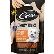 Cesar Jerky Bites Chicken & Apple Recipe Grain-Free Dog Treats, 8-oz bag