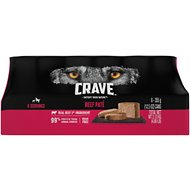 Crave Beef Pate Grain-Free Canned Dog Food, 12.5-oz, case of 6