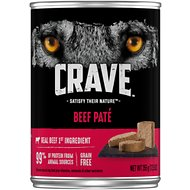 Crave Beef Pate Grain-Free Canned Dog Food, 12.5-oz, case of 12