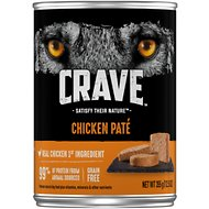 Crave Chicken Pate Grain-Free Canned Dog Food, 12.5-oz, case of 12