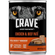 Crave Chicken & Beef Pate Grain-Free Canned Dog Food, 12.5-oz, case of 12