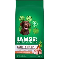 Iams ProActive Health Sensitive Skin & Stomach with Real Chicken & Peas Grain-Free Dry Dog Food, 4.4-lb bag