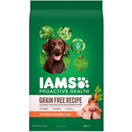 Iams ProActive Health Sensitive Skin & Stomach with Real Chicken & Peas Grain-Free Dry Dog Food, 19-lb bag