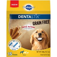 Pedigree Dentastix Grain-Free Large Dental Dog Treats, 15 count