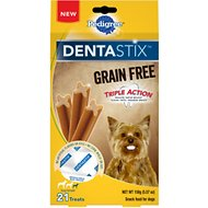 Pedigree Dentastix Grain-Free Mini Dental Dog Treat, 21 count