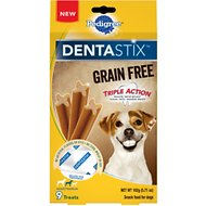 Pedigree Dentastix Grain-Free Small/Medium Dental Dog Treats, 9 count