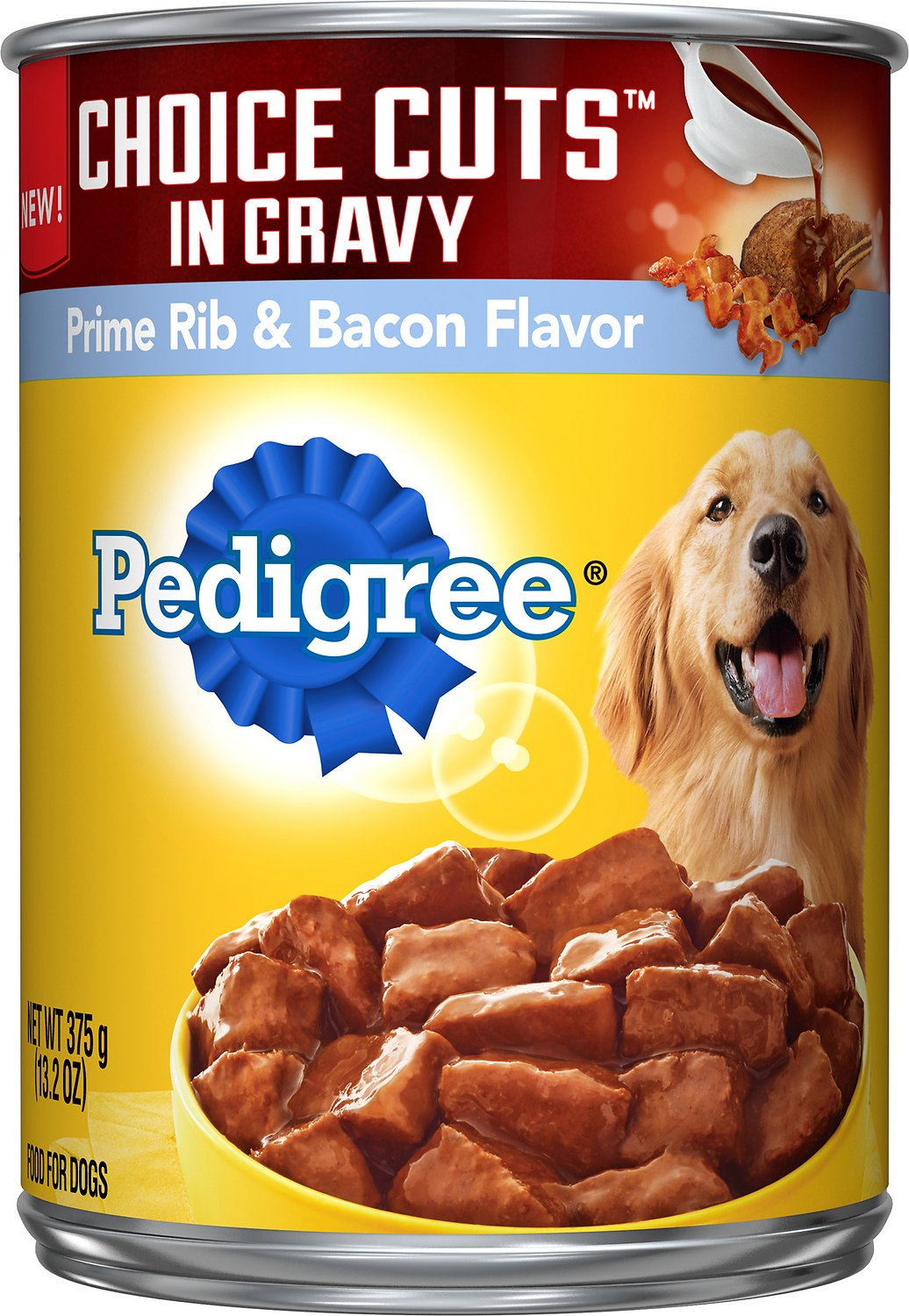 Pedigree Choice Cuts In Gravy Prime Rib Bacon Flavor Canned Dog