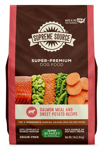 Supreme Source Salmon Meal Sweet Potato Recipe Grain Free Dry Dog Food 5 Lb Bag Chewy Com