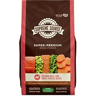 Supreme Source Salmon Meal Sweet Potato Recipe Grain Free Dry Dog Food 22