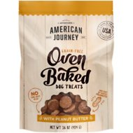 American Journey Peanut Butter Recipe Grain-Free Oven Baked Crunchy Biscuit Dog Treats, 16-oz bag