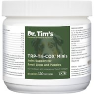 Dr. Tim's TRP-Tri-COX Minis Small Breed & Puppy Joint Support Dog Supplement, 120 count