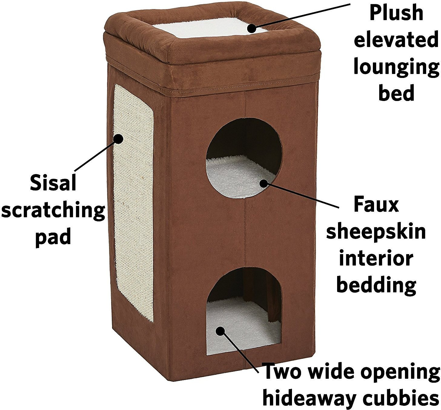 Midwest Curious Cube Condo Cat Bed Chewy Com