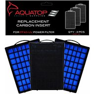 Aquatop Hang-On Back Aquarium Power Filter Replacement Carbon Cartridge Filter, 3 count, PF40-UV