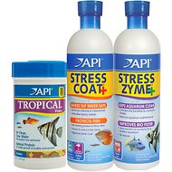 API Aquarium Water Conditioner & Tropical Fish Food Kit