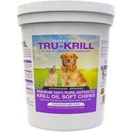 Hanzi Pets Tru-Krill Antarctic Krill Oil Omega-3 & Astaxanthin Dog & Cat Soft Chews, 60 count