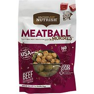 Rachael Ray Nutrish Grain-Free Meatball Morsels, Beef, Chicken & Bacon Recipe Dog Treats, 3-oz bag