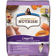 Rachael Ray Nutrish Longevity Natural Chicken with Chickpeas & Salmon Recipe Dry Cat Food, 14-lb bag