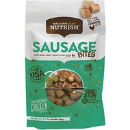 Rachael Ray Nutrish Sausage Bites Oven-Browned Chicken Recipe Dog Treats, 3-oz bag